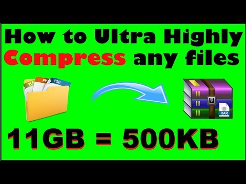 [11GB=500KB] How To Ultra Highly Compress Any Files Easily Only 2 Settings | Ultra Compress Files
