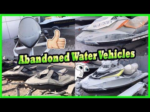 Abandoned Hydrocycles Sea Doo in Dubai. Abandoned Strange Mini Submarine in Dubai. Lost Vehicles