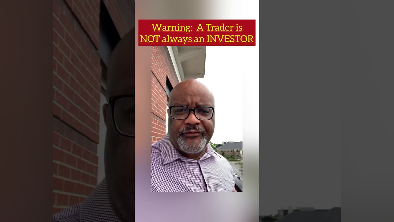 Warning: Stock trading is NOT the same as INVESTING