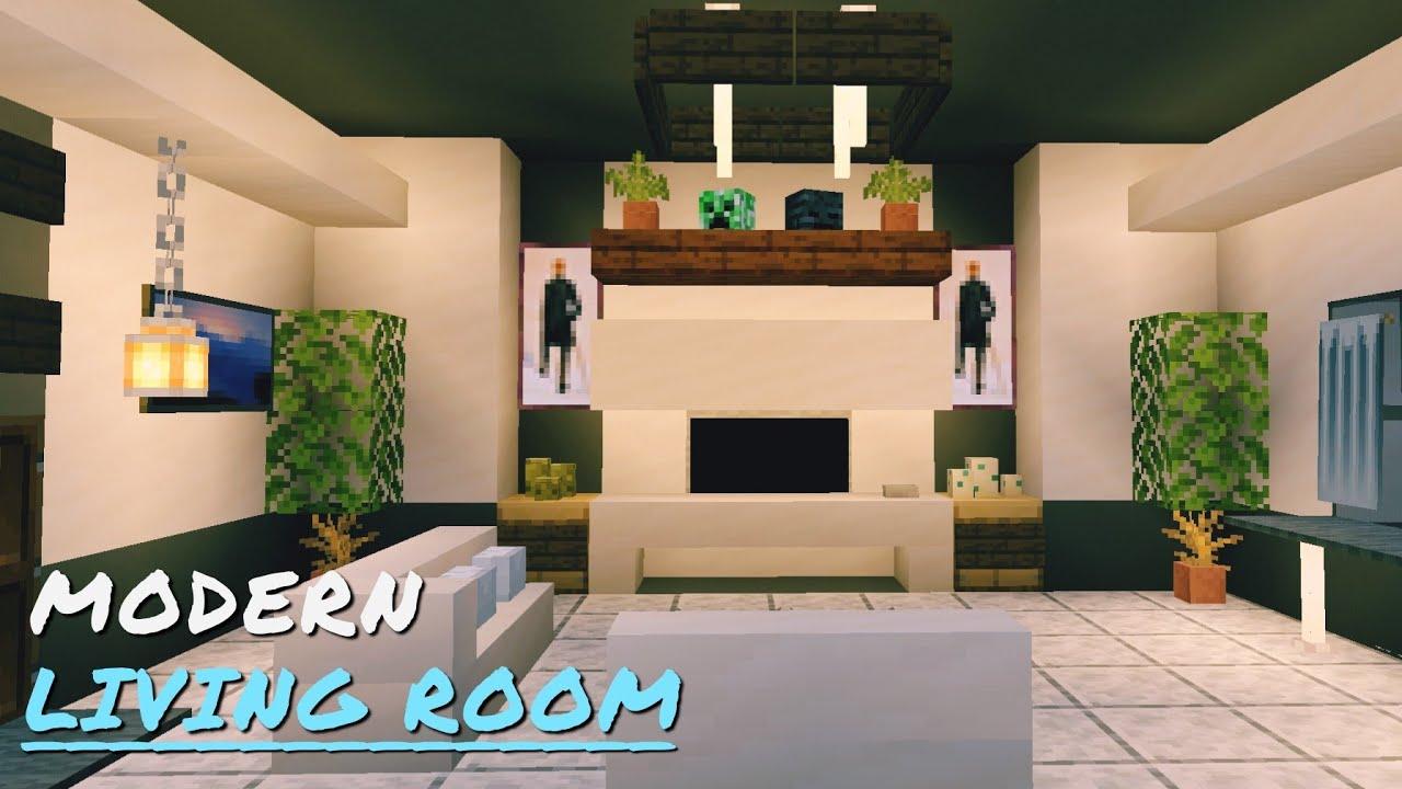 Modern Living Room Design Tutorial Minecraft PE 20.206 Beta   YouTube