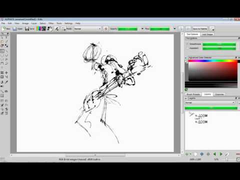 Krita sketch brush timelaps