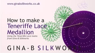 How to make a basic Teneriffe Lace medallion on the Gina-B Silkworks looms