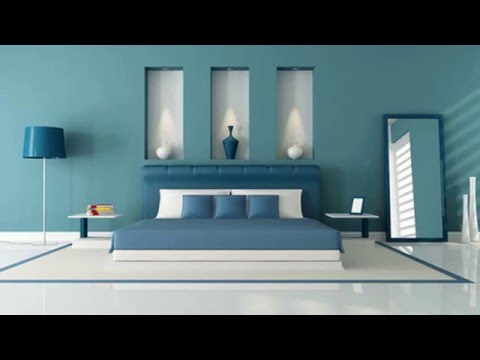 Pastel Blue Bedroom Designs With Wall