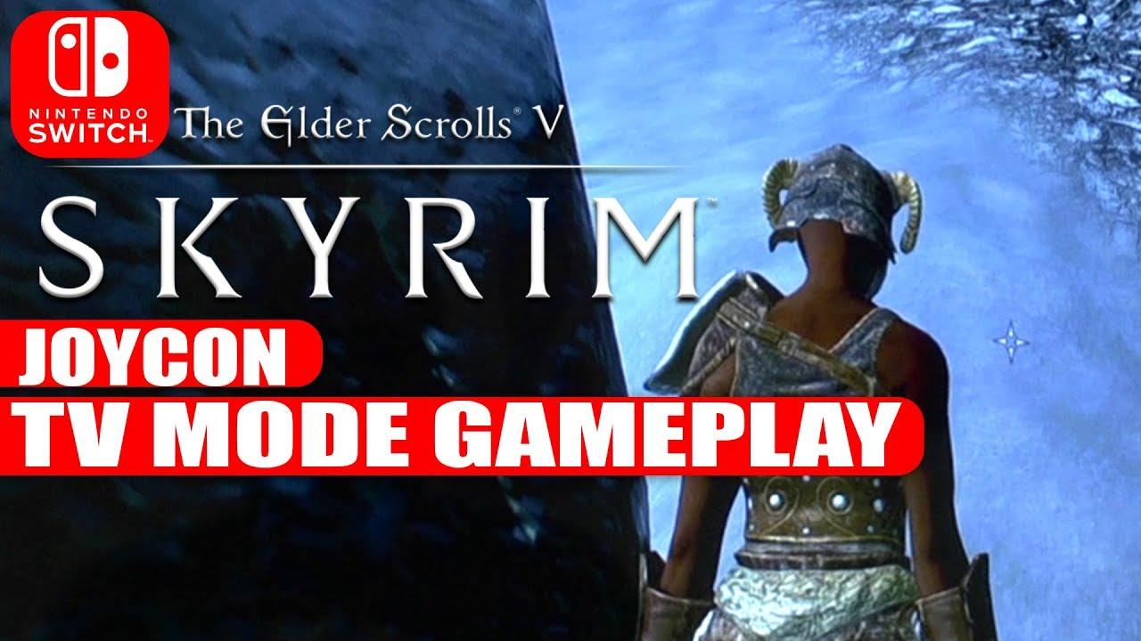 SKYRiM Nintendo Switch | Motion Control Gameplay | TV Mode | GAMESCOM 2017