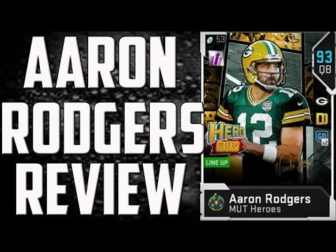 How Good is 92 Overall Aaron Rodgers? Madden 19 Ultimate Team Card Review