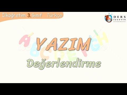 YAZIM / DEĞERLENDİRME