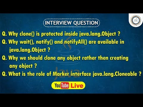 Session-27 || 9:30PM Live || Cloning  in Java || Cloneable || Java Interview Question by JTC