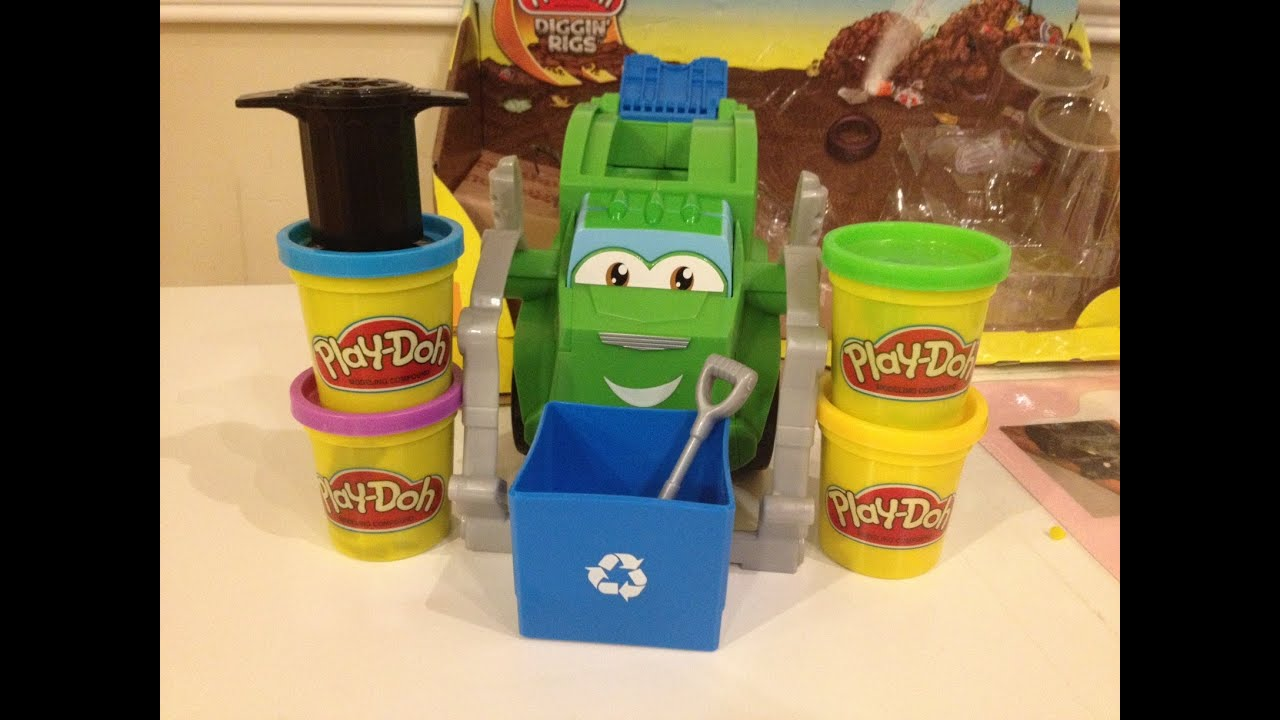 Play Doh Diggin Rigs Trash Tossin Rowdy The Garbage Truck