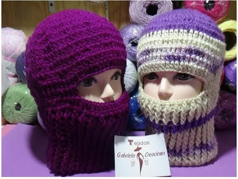 How To Crochet A Beanie Or Balaclava Ski Mask Baby Hat Newborn 6