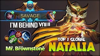 Perfect SAVAGE!! Silent Queen Behind You! Mř. Břöwnstonē Top 1 Global Natalia - Mobile Legends