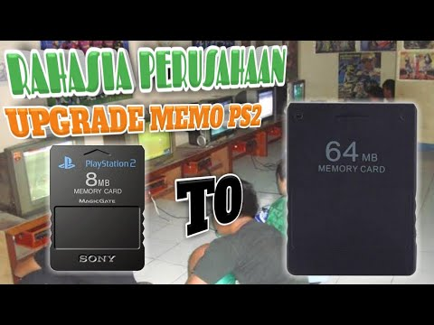 CARA UPGRADE MEMORI SAVE PS2