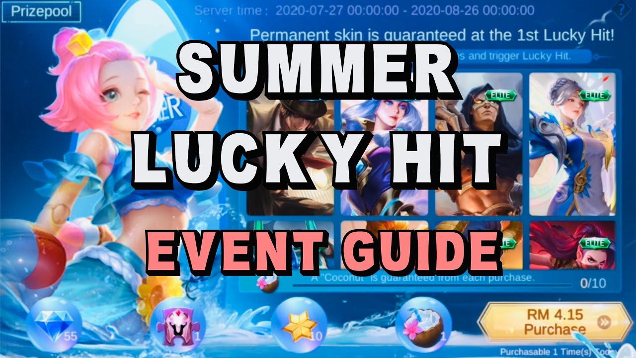 Summer Lucky Hit | Daily Recharge Event | 10 Coconut & 1 Guaranteed Skin - Mobile Legends Bang Bang