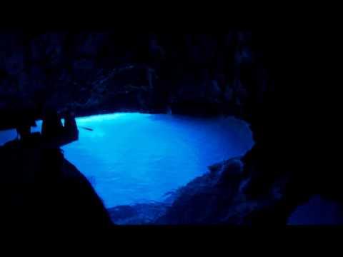 Blue Cave - Bisevo Island - Croatia - HD 720p