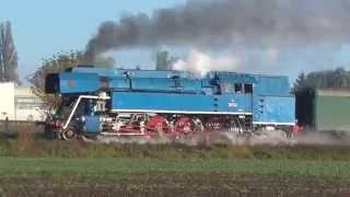 Parní lokomotiva 477.043 Papoušek - Poslední parní víkend 2014