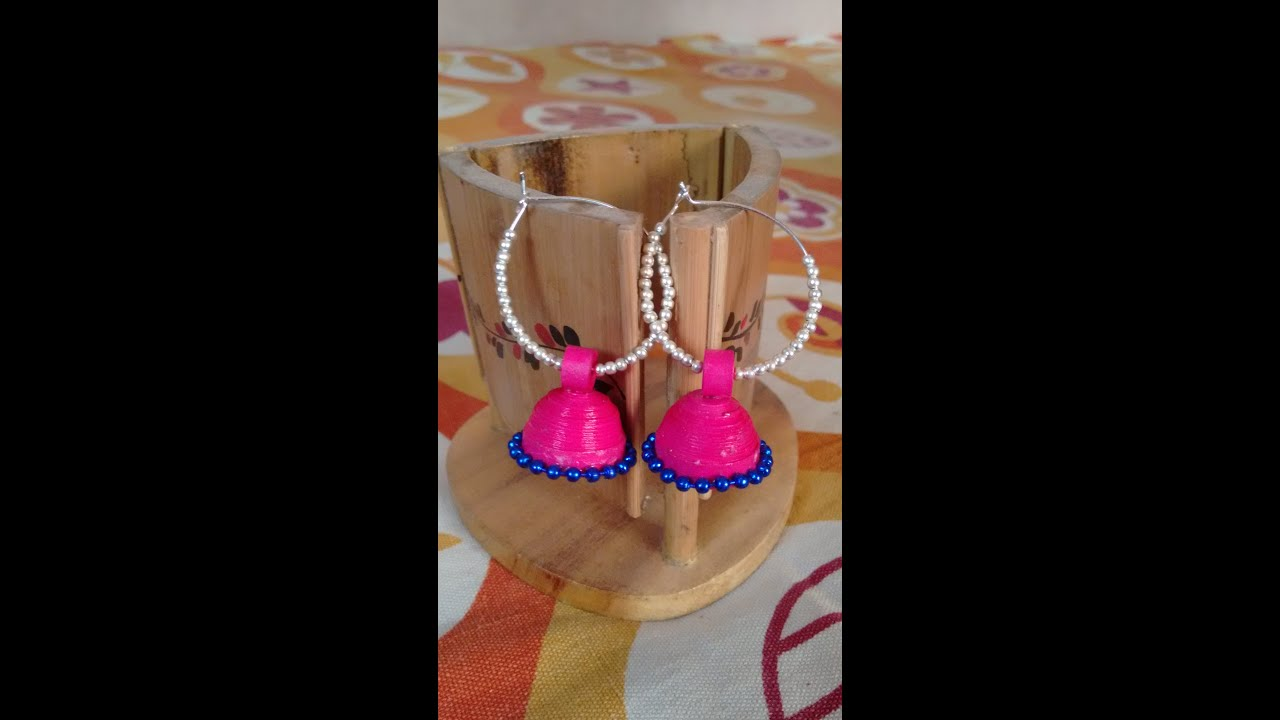Papercraft Quilling Jhumkas with Rings!