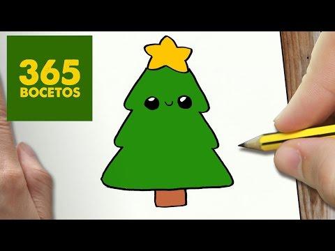Dibujos Impresionantes De Navidad.Como Dibujar Un Arbol Para Navidad Paso A Paso Dibujos