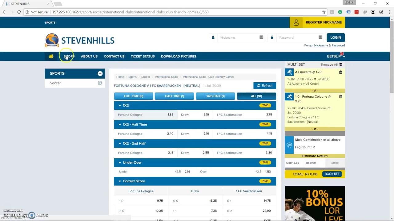 Stevenhills mauritius betting horse race betting in mumbai cablenet