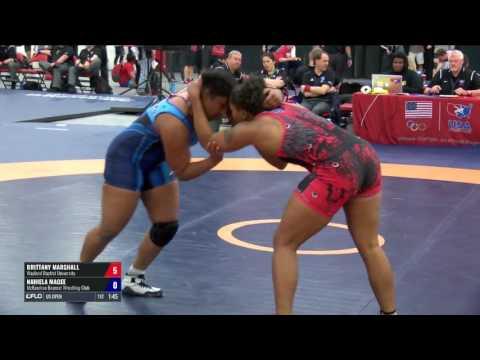 75 3rd Place - Brittany Marshall (Wayland Baptist University) vs. Nahiela Magee (McKendree Bearca...