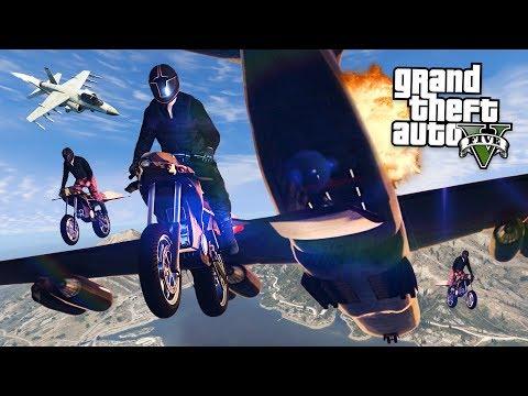 GTA 5 GUN RUNNING DLC -  FINAL MISSION w/ FLYING ROCKET BIKE & CARGO PLANE!! (New GTA 5 Online DLC)