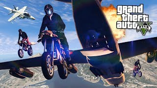 GTA 5 GUN RUNNING DLC -  FINAL MISSION w/ FLYING ROCKET BIKE & CARGO PLANE!! (New GTA 5 Online DLC)