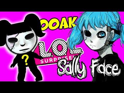 ООАК Салли Фейс из куклы ЛОЛ и Hairdorables - из игры Sally Face | Салли Кромсали от Prescilla