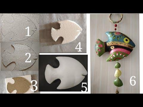 Beautiful Wall Hanging/fish Wall Hanging/Art And Craft#CreativeMind #FishWallHanging
