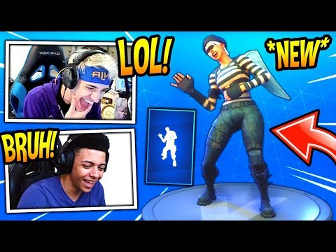 "NINJA & MYTH REACT TO *NEW* ""LAUGH IT UP"" EMOTE/DANCE! (FUNNY) Fortnite SAVAGE & FUNNY Moments"