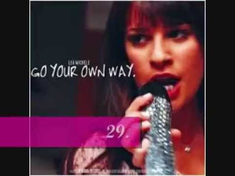 Glee top 40 Rachel Berry songs (solos only) from all seasons (1-6)