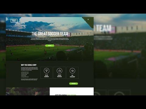 Sketch 3 - Web UI Design for Sports Team (Timelapse)