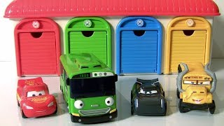 Tayo The Little Bus Garage SURPRISE TOYS Cars 3 Avengers Mashems