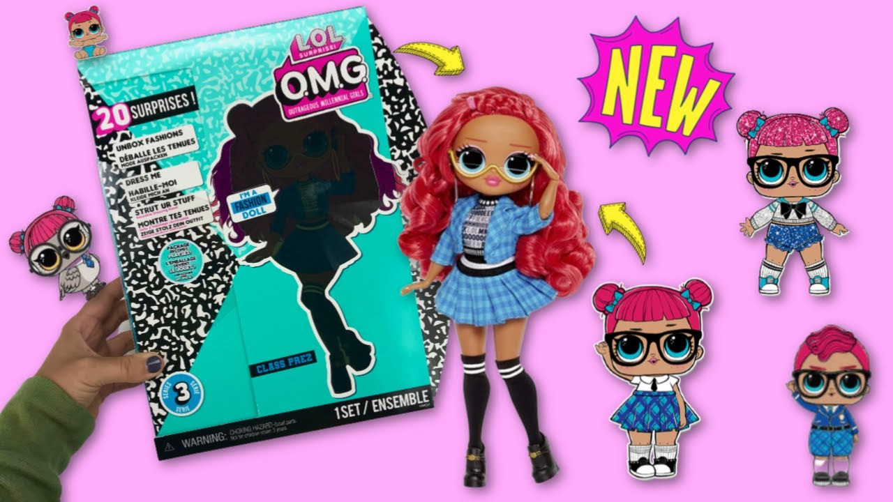 New Lol Surprise Series 3 Omg Fashion Doll Class Prez Youtube