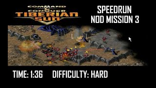 SPEEDRUN: C&C Tiberian Sun Nod Mission 3 (Hard). NO GLITCH.
