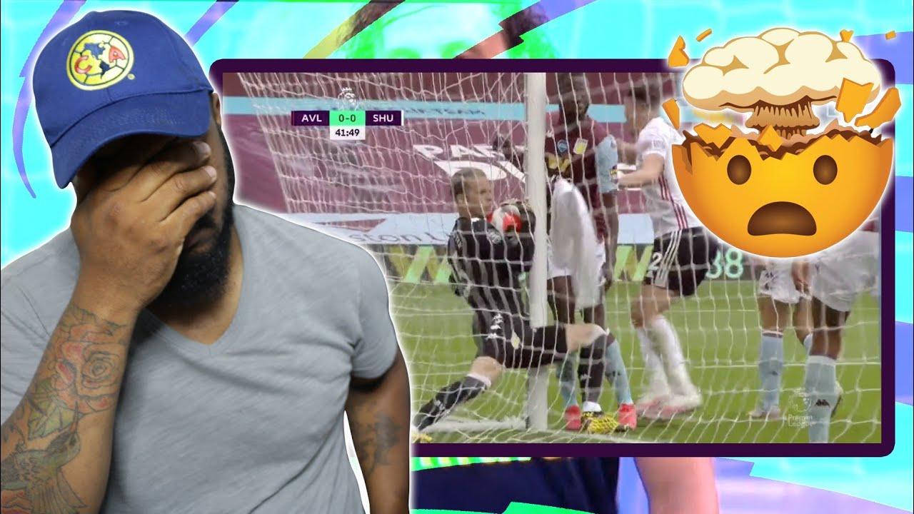 No Goal? Goal Line Technology & VAR Fail! Aston Villa vs Sheffield ...