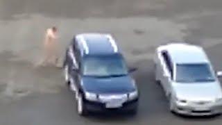 Голый мужик бегает по Путинграду. Real video