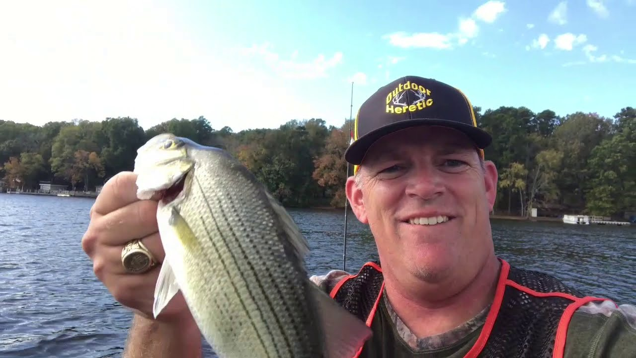 High Rock Lake NC. - Bass fishing with a Hush Hush Top