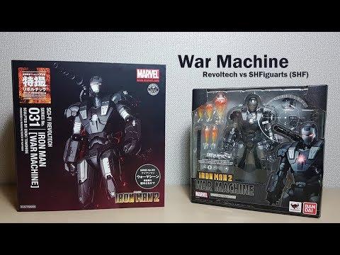 War Machine Skala 1/12 - Iron Man 2: Revoltech vs SHFiguarts (SHF)