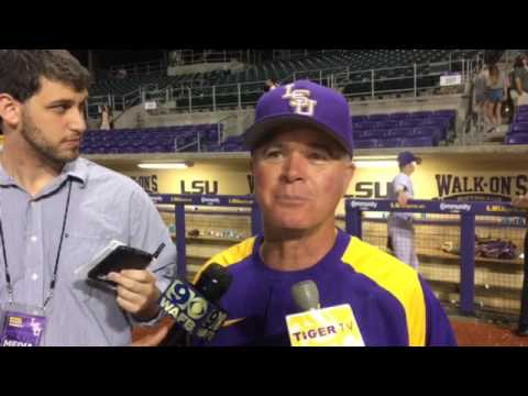 Paul Mainieri after check of Russell Reynolds' hat against Southeastern