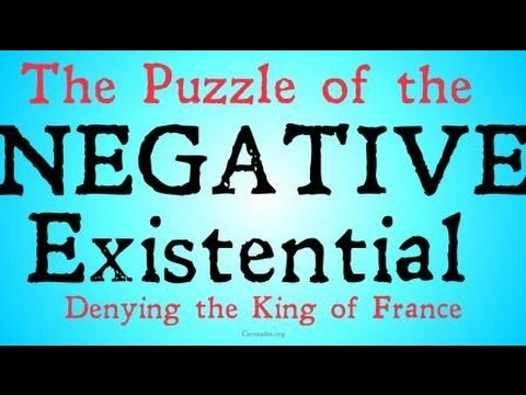 The Puzzle of Negative Existentials (Philosophy of Language)