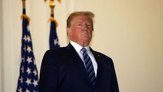 Trump Removes Face Mask After Returning to White House