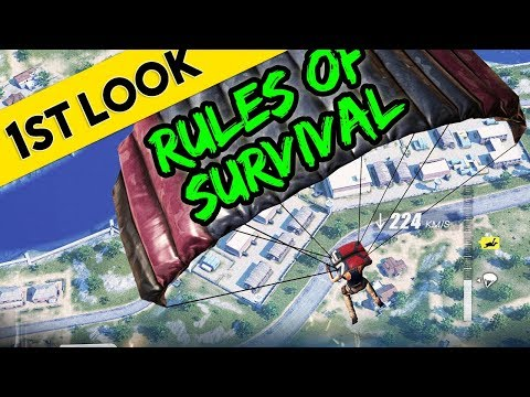 PUBG MOBILE GAME ??? | First Look At Rules of Survival (iOS / Android)