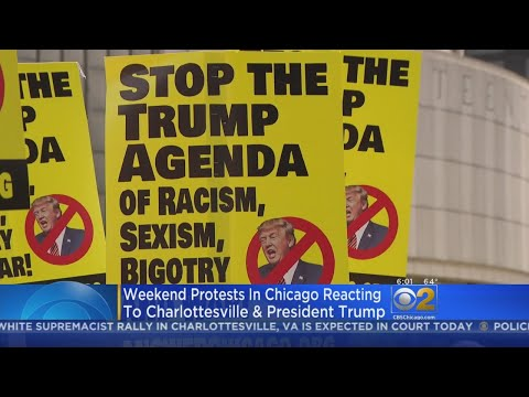 Hundreds March In Chicago To Protest White Nationalist Rally In Virginia