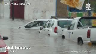 #Puebla ¡Se cayó el cielo!