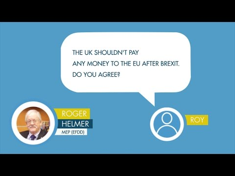 Roger Helmer answers a question on Brexit