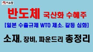 [주식]반도체 국산화 수혜주인 소재주와 비메모리, 장비…