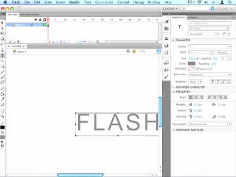 Exposing Yourself to Flash Tutorial #3: Creating 3d Text