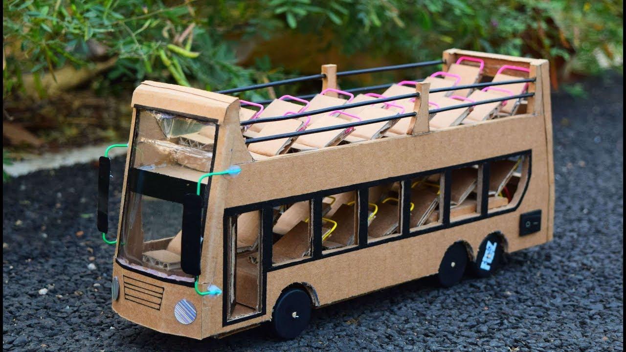 DIY Hi-tech Double Decker Bus | How To Make A Luxury Double Decker Bus |