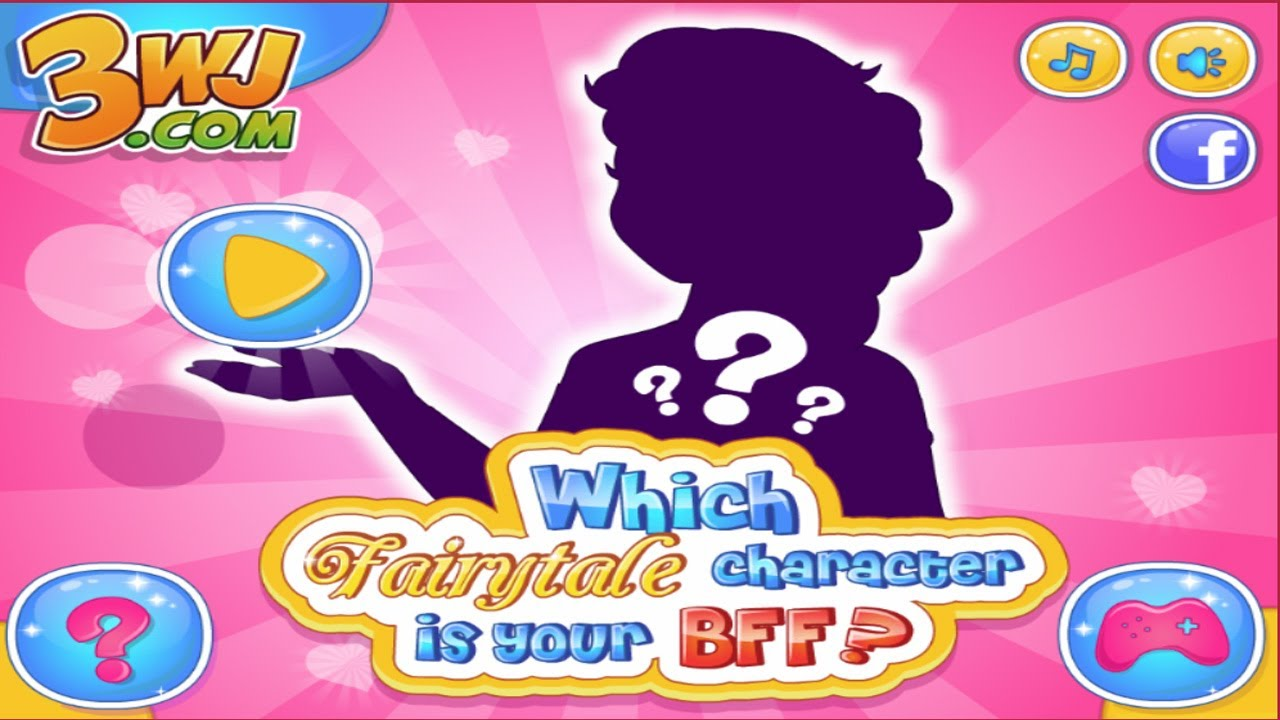 which fairytale character is your bff quiz games for girls youtube