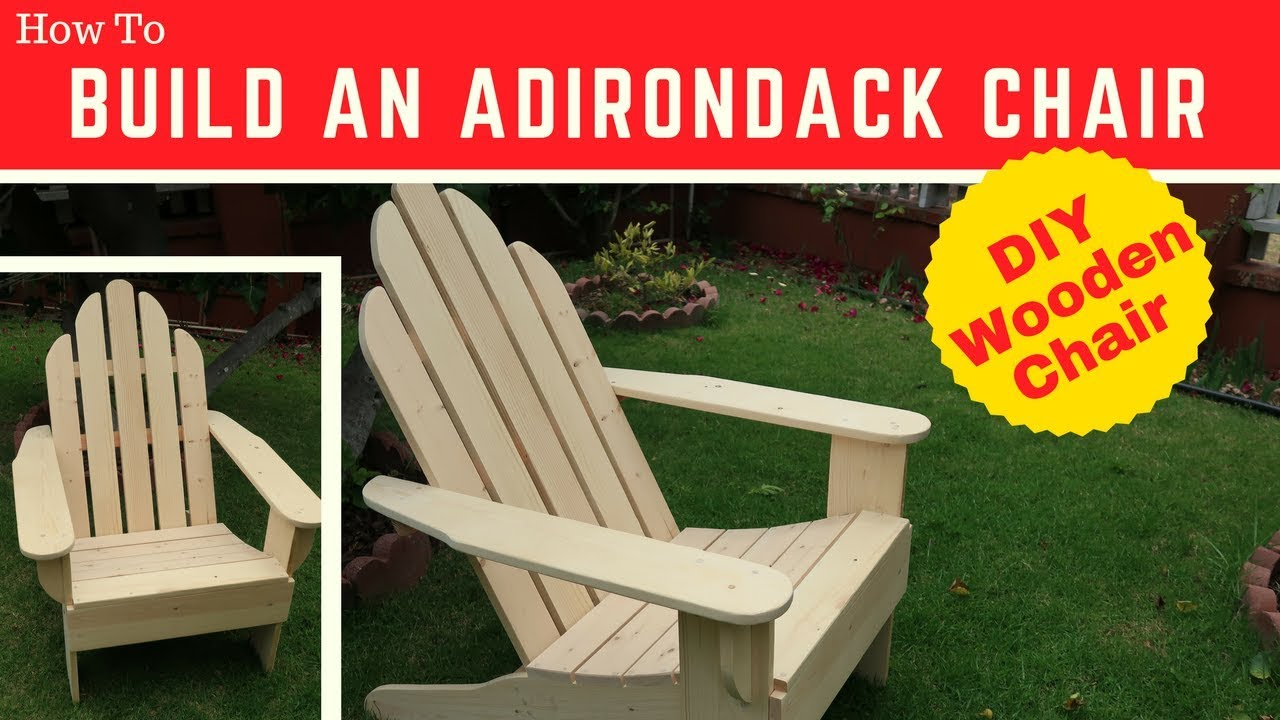 Diy Adirondack Chair Plans Transport Parts Build Your Own Youtube