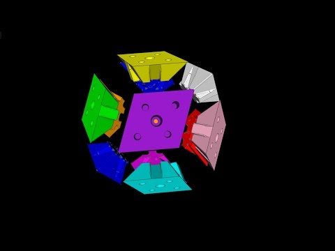 Platonic Structures - How to assemble a Rhombic Dodecahedron