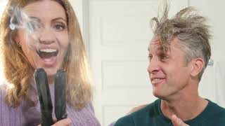 Dad tries 1980s Hairstyle: Beauty Tips with Penn